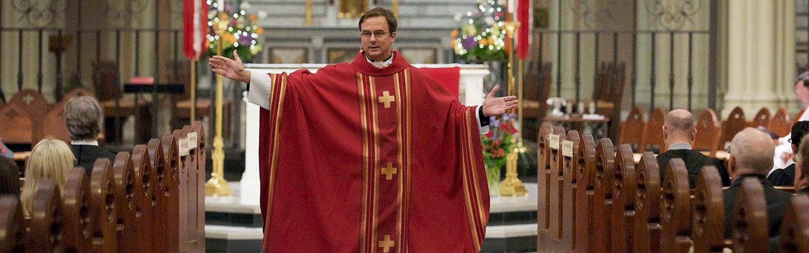 Father Hendrickson presiding at Red Mass