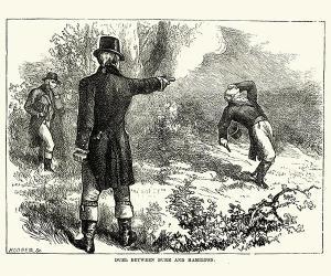 Drawing of Burr-Hamilton Duel