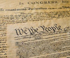 Image of the US Constitution Preamble