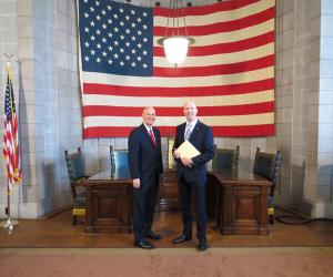 Chris McMahon and Governor Pete Ricketts