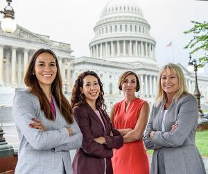 Four Creighton law alumnae in DC