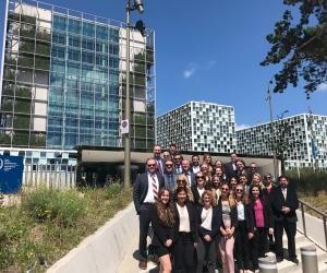The class went to the International Criminal Court in The Hague.