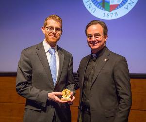 Prof.David Weber with President Daniel S. Hendrickson, SJ