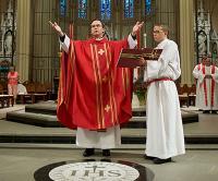 Fr. Hendrickson presiding at Red Mass