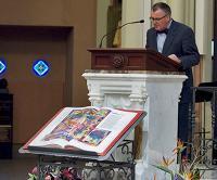 Professor Morse reading at Red Mass at St. John's church